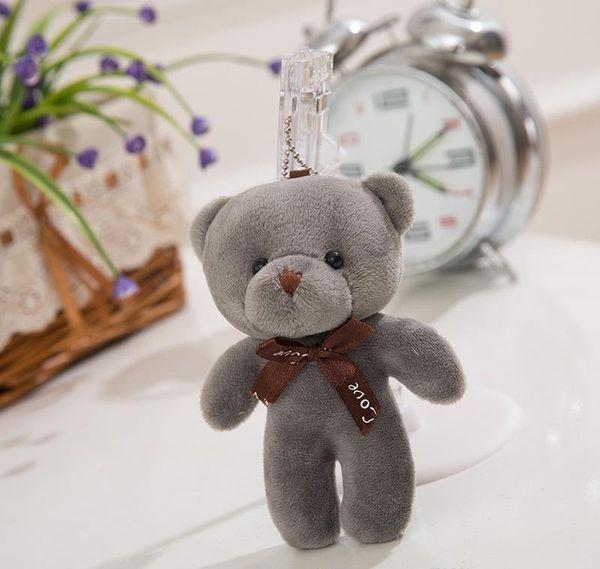 Cute Mini Teddy Bear Plush Stuffed Toy Doll Pendant Bag Accessory Wedding Gifts Keychain Plush Stuffed Toys For Children Kids