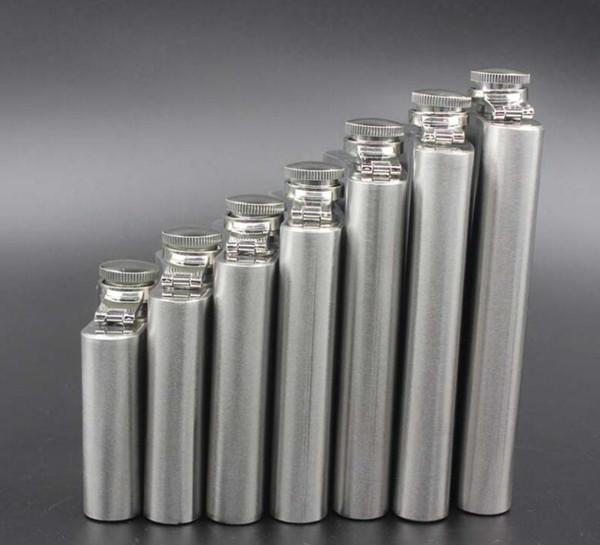 Tragbare Flachmann Edelstahl Pocket Weinflasche Schraubverschluss Männer Geschenk Outdoor Drink Outdoor Werkzeuge 9 Größen 1oz bis 10oz 18oz