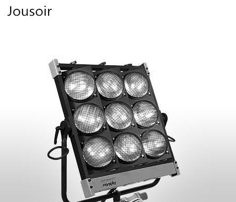 Film und Fernsehen Gruppe 9 Scheinwerfer, Film und TV Studio 9 Lichter 1000W * 9 Zuschauer Lampe PAR Lampe 1000W230VGX16 cd50