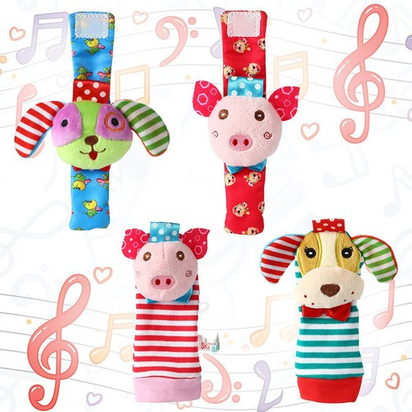60 قطعة / الوحدة = 15 مجموعات ، الحيوان الرضع طفل راتل القدم مكتشف الجوارب التنموية لعب مجموعة هدية رائعة ، الكلب والخنزير ، الأسد والنمر ، البومة