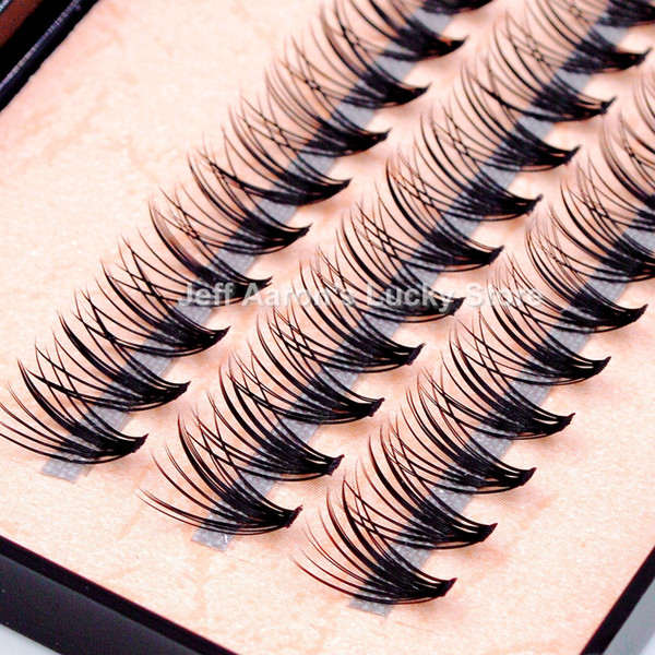 New Natural Long Black Individual False Eyelashes Eye Lash Extension Makeup Tool 57 Knots 8 10 12 14MM Available