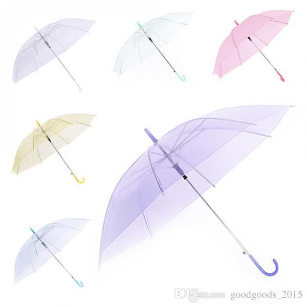 f9c14c819 Clear Transparent Rain Umbrella PVC Rain Dome Bubble Rain Sun Shade Wedding  Party Umbrellas Long Handle