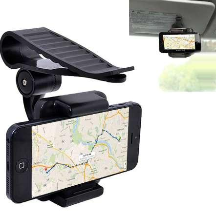 Universal Mobile Phone Car Holder 360 Sun Visor Cell Phone Holder Stand for iPhone 6s X 5 7 Plus Samsung huawei Mobile Support