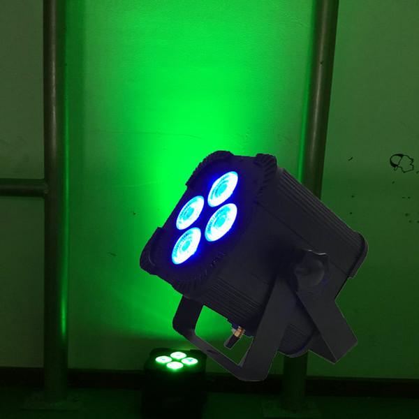 IMPUESTOS GRATIS MINI 4 * 18W 6in1 RGBAW UV alimentado por batería inalámbrico LED Par Light Iluminación de escenario