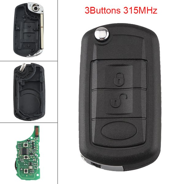 315 MHz 3 Botões Keyless Uncut Flip Remoto Chave Fob PCF7941 Chip para Land Rover KEY_11F