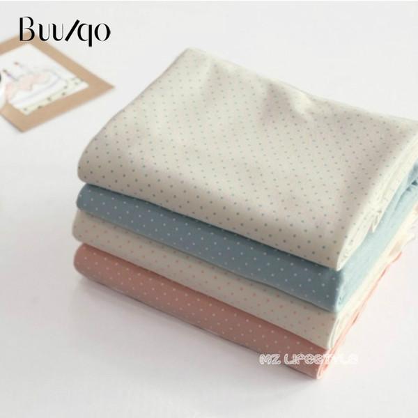 Buulqo Stretchy precioso lunares bebé algodón tejido de punto DIY costura bebé algodón jersey tela para ropa 50 * 180 cm
