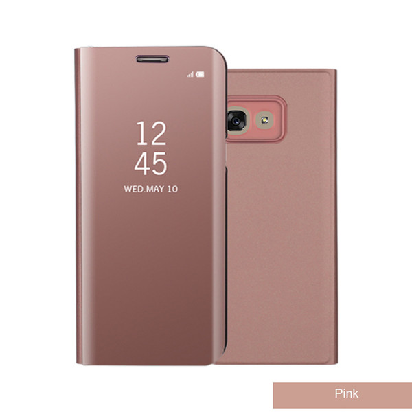 New For Samsung Galaxy Note 8 S8 S7 S6 Case Luxury Flip Stand Clear View Smart Mirror Case For Samsung S8 Plus