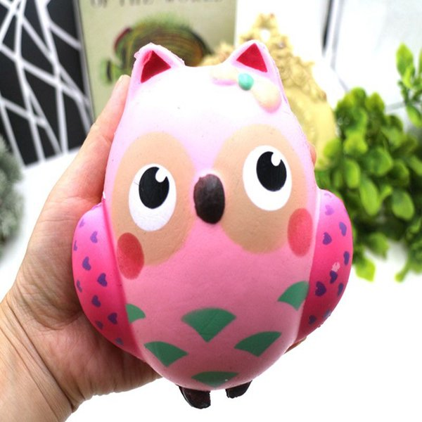 PU Squishy Fun Crazy Poo Funny Owl Animal Toys Soft Slow Rebound Children Toys For Boys and girls Decompression toys