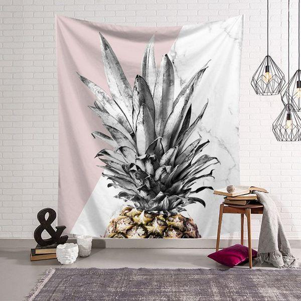 İskandinav bitki goblen kaktüs duvar asılı asılı halı ananas tentür duvar ananas arras 200 cm battaniye daire dekor