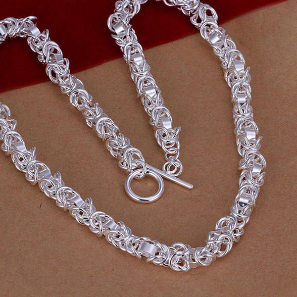 Fine 925 collar de plata esterlina, hombres de moda collar de mujeres XMAS nuevo estilo Lovely Dragon TO collar de cadena de moda enlace Italia Hot Sale AN60