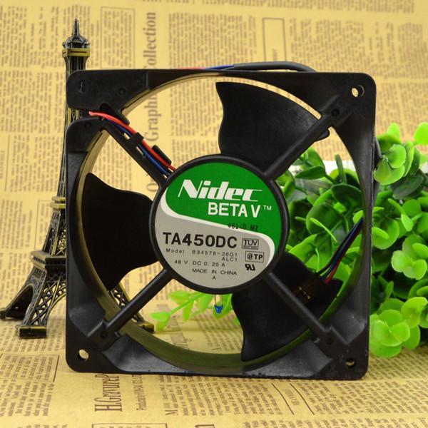 top popular For TA450DC B34578-26G1 Original Japan NIDEC 48V 0.25A 3-wire 12CM axial fan 2021
