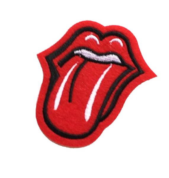 top popular Punk Style Lips Tongue Mouth Cool Patch Embroidered Applique Iron On Patch 2021