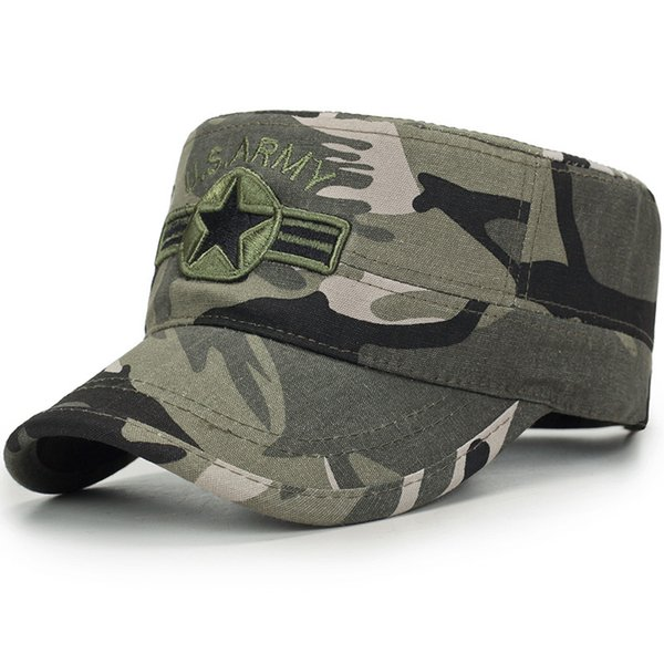 2018 Men's Baseball Cap Tactical Army Special Forces CaSnapback Hat Male Outdoor Sun Hats Camouflage Work Cap