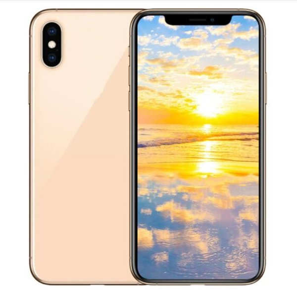 6.5 inch ERQIYU goophone Xs Max unlocked MP3 cell phones dual sim Android 7.0 Octa Core shown 4G LTE 128GB Smartphones