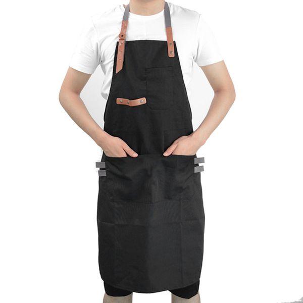 Acheter Tabliers Pour Femme Hommes Tabliers De Cuisine Tablier De Travail Tablier De Cuisine Pour Homme Tablier Ajustable Chef De Cuisine Noir De