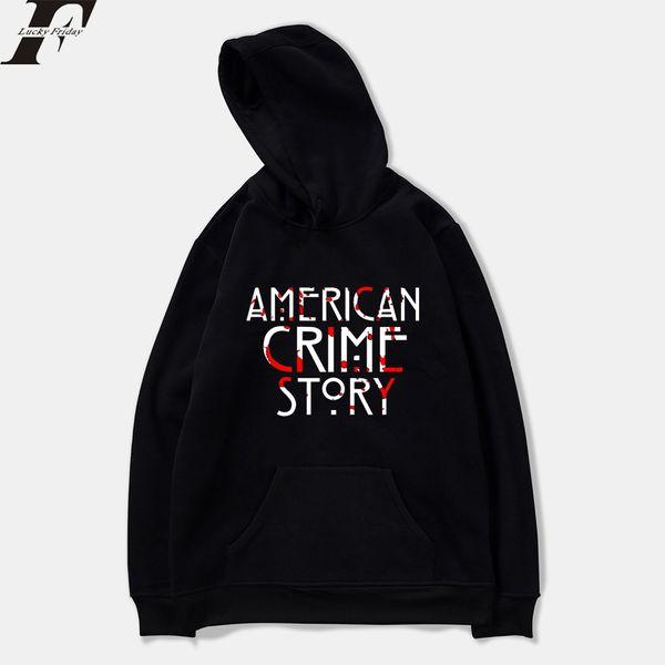 História do Crime americano moletom Primavera Anime Dos Homens Camisolas Com Capuz Harajuku Casuais Com Capuz Homens / Mulheres Roupas Plus Size
