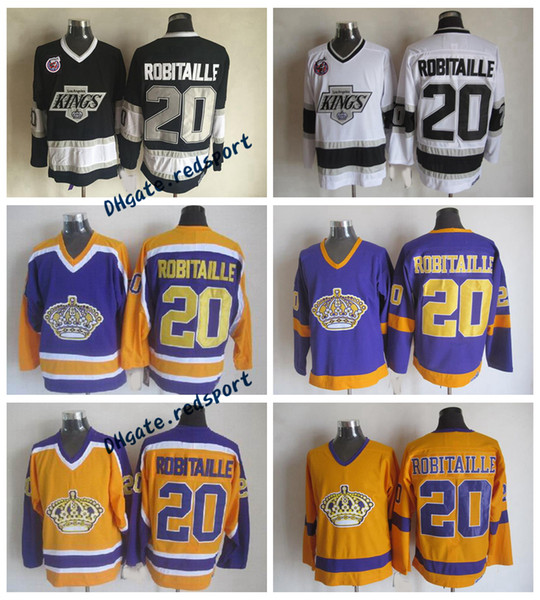 1993 Chandails de hockey Luc Robitaille de Kings de Los Angeles de 1993 - Chandails d'époque de Luc Robitaille de Luc 20