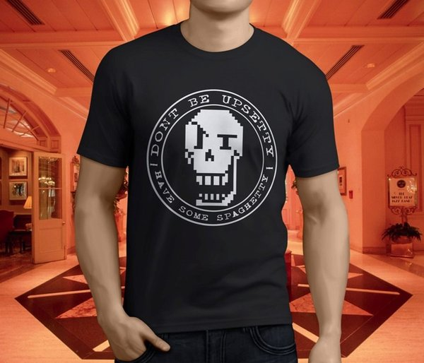 New Undertale Sans And Papyrus - T-shirt nera da uomo taglia S - 3xl