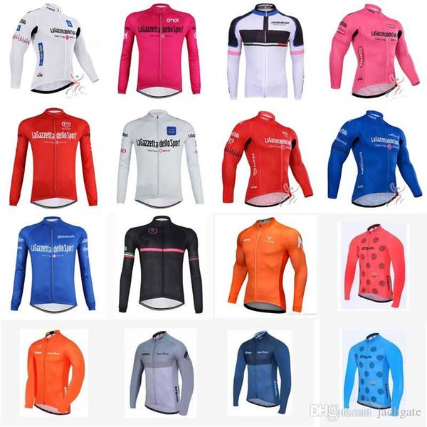 TOUR DE ITALY STRAVA team Radfahren langen Ärmeln jersey Radfahren Kleidung für Herbst Frühling Lange Top Shirts MTB Bike Kleidung D1018
