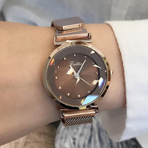 Scottie Watch New Hot Watch Fashion Purple Ladies Watch Milan Magnet Watches Strap Quartz Watches Female Models