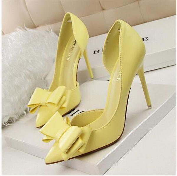Primavera e No Outono Atacado Sapatos de Salto Alto Feminino Senso Dica-Sapatos de Salto Alto Único Tamanho 34-39 Preto, branco, vermelho, amarelo, cinza, rosa e