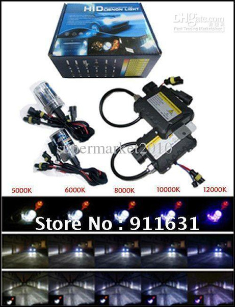 best selling Car Xenon H7 55w xenon light H1 bulb HID kit H3 H8 H9 H10 H11 H16 9005 9006 HB3 HB4 35W slim ballast 12V DC