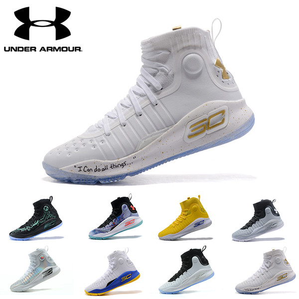 best service 917de 46a76 Under Armour Curry 4 Mens Basketball Shoes Mvp All Star Pink White Gold  Gray Athletic Sports Sneakers Cushion Trainers Outdoor Designer Jordans ...