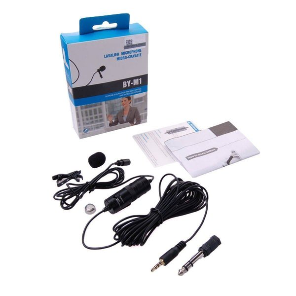 BOYA BY-M1 Omnidirectional Lavalier Microphone for Canon Nikon DSLR Cellphone presentations Microphone video recording