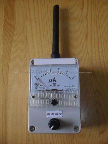 Freeshipping 100K-1000MHz Field Strength Indicator Meter RF Signal Level Meter + antenna