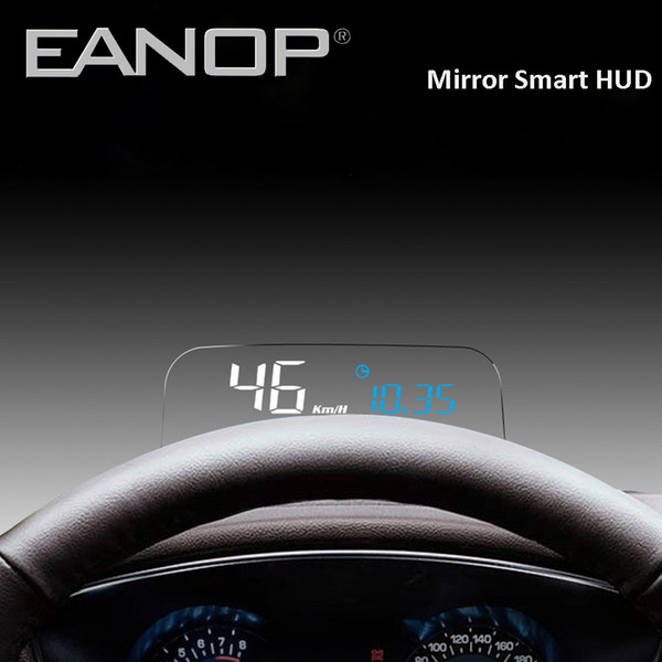 Toptan Ayna HUD Oto Araba HUD Head-up Ekran OBD2 Hız Projektör Kilometre KMH / KPM Sıcaklık Yağ Tüketimi vb