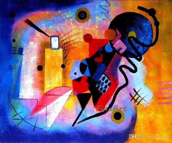 Wassily Kandinsky célèbre artiste peinture reproduction toile art beauté citations toile peinture à l'huile décoration murale art photo