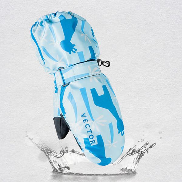 2-in-1 Mittens Kids Ski Gloves Snow Winter Sport Snowboard Synthetic Insulation Warm Waterproof Windproof Skiing Boys Girls C18111501