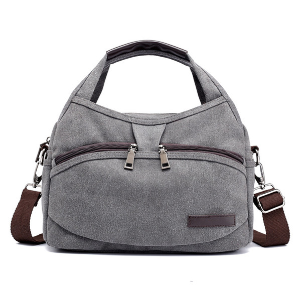 2018 High Quality Multi-function Versatile Stylish Crossbody Messenger Bag Small Leisure Canvas Tote Bags(5 different colors)