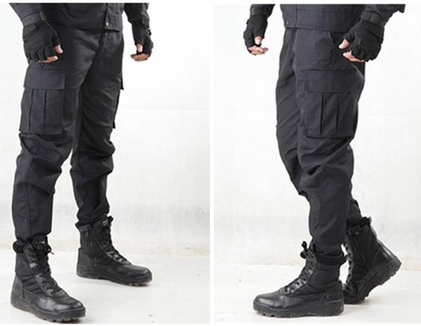 Outdoor Working Wear Warm Thick Pants Black Running Climbing Long Pants