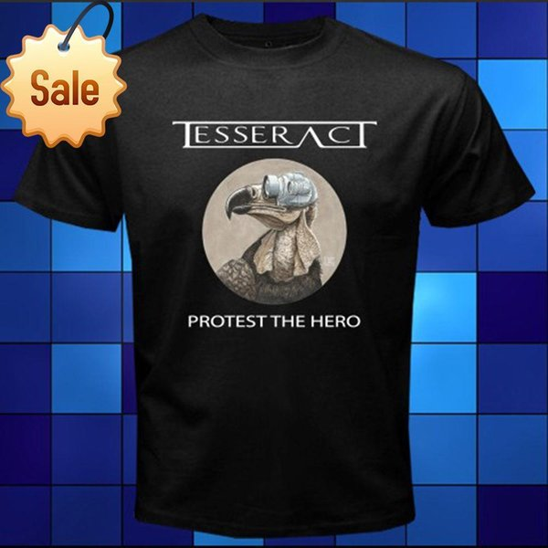 2018 Fashion casual streetwear New TESSERACT Protest The Hero Rock Band Black T-Shirt Size S M L XL 2XL 3XL Summer Style T shirt