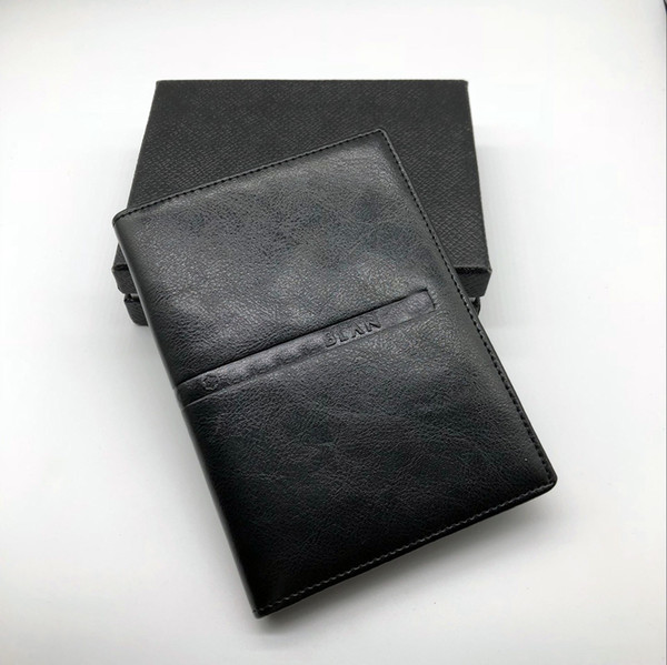 Luxury Men's Business Black M B Classic Credit Card Holder Cover Cover Leather M T Travel Wallet Passport Thin Card Set