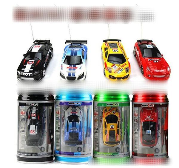 Nuevo 8 colores Mini-Racer Control remoto Auto Coke Can Mini RC Radio Control remoto Micro Racing 1:64 Car 8803 B