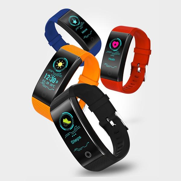 OGEDA QW18 Smart Watch Sports Bracelet Watch, Color Heart Rate Pedometer IP68 Waterproof Watch Top Brand Luxury Fitness Wrist Watch, Bracele
