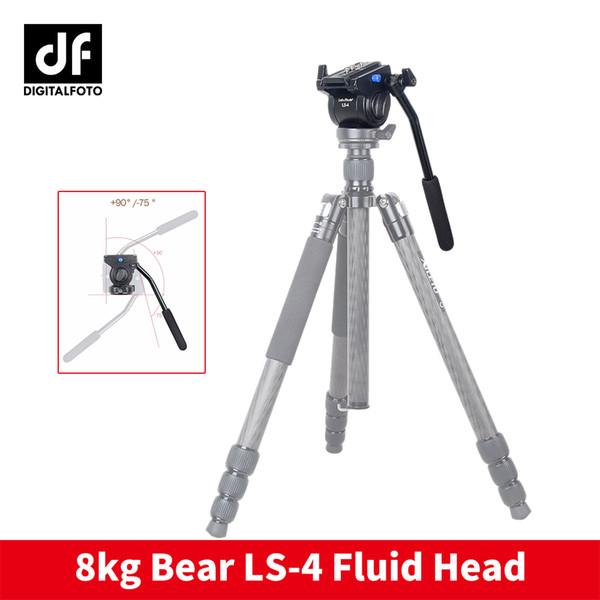 Professionelle Videokamera Fluid Drag Stativkopf mit Schnellspanner für Canon Nikon Sony DSLR Kamera Camcorder Schießen