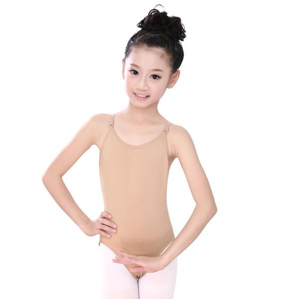 New Girls Seamless Camisole Undergarment Leotard With Adjustable Straps Dance Leotard Kids body wear Girl Gymnastics Underwear