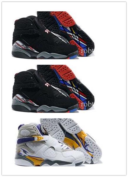 Nike Air Jordan Retro Shoes Nouveau 8 VIII Basket Chaussures Hommes Bonne Qualité noir blanc 8s Playoffs Respirant Entraînement Athlétisme Sport Baskets Eur 41-46