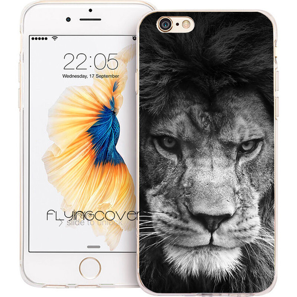 Fundas Black Lion King Clear Soft TPU Silicone Phone Cover for iPhone X 7 8 Plus 5S 5 SE 6 6S Plus 5C 4S 4 iPod Touch 6 5 Cases.