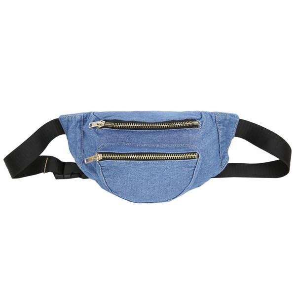 girls money hidden phone waist bag steampunk tas chest bag men bolso denim mujer carteira de cintura male fanny pack heup tasjes