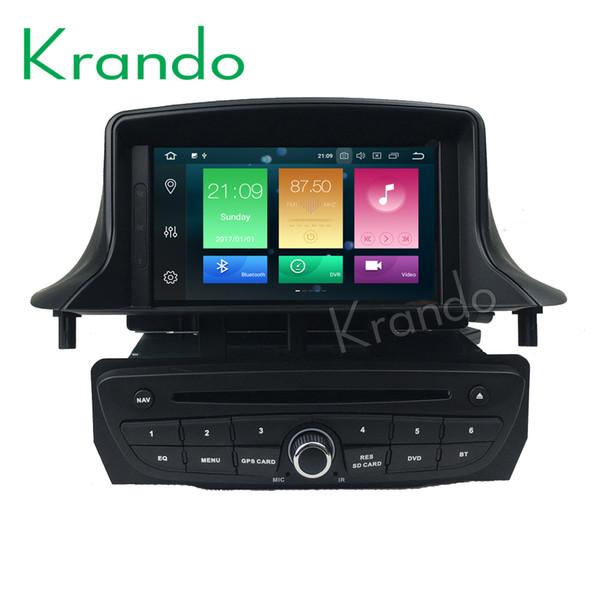 Krando Android 8.0 7'' 32GB ROM car dvd radio for Renault Megane 3 gps navigation player Steering wheel control wifi dab+