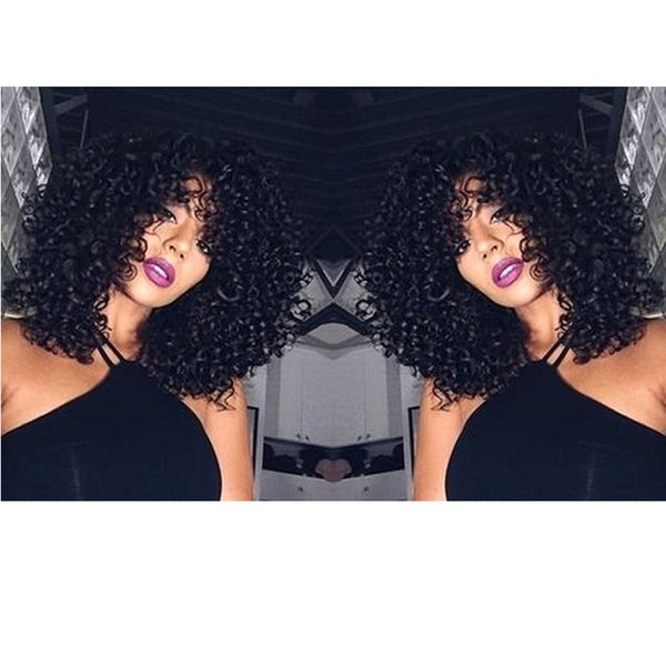 New afro kinky curly Wig brazilian Hair Simulation Human Hair kinky curly full wig for ladies