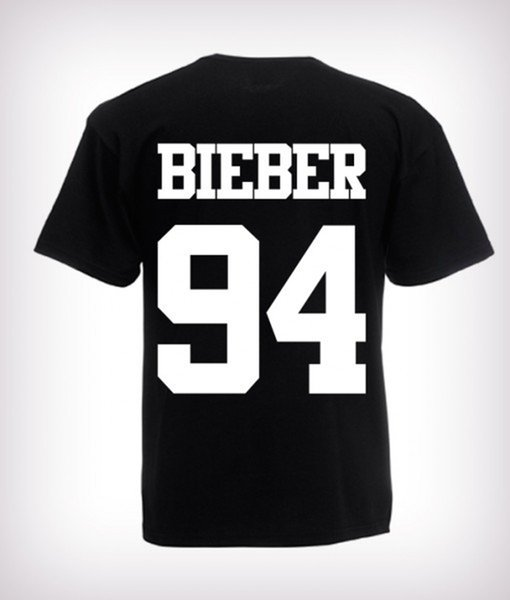 2018 100% Cotton T Shirts Man Clothing Cool Summer Tees Crew Neck Short-Sleeve Office Justin Bieber 94 Tee For Men
