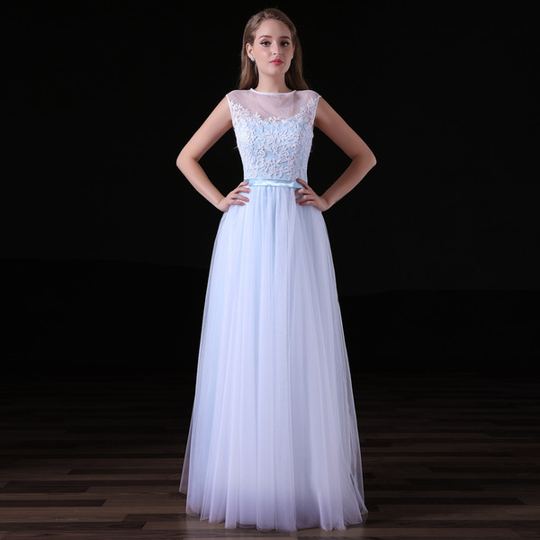 Lace O-Neck manual 2018 New Women's Elegant Long Gown Party Prom For Gratuating Date Ceremony Gala Evening Dresses 34