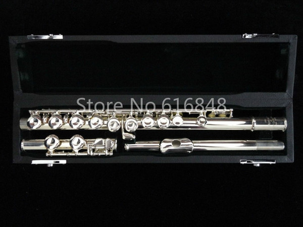 Muramatsu Flute 1957 16 Keys Holes Closed Flute Cupronickel Silver Plated High Quality New C Tune Flute Musical Instrument With Case