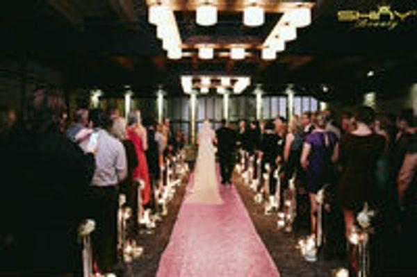 ShinyBeauty Aisle Runner Tape-Pink Gold-4FTX15FT,Shimmer Sequin Fabric Wedding Floor Runner,Glitter Carpert Runner Wedding Runners
