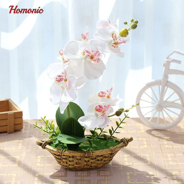 Wedding Artificial Butterfly Orchid Potted plants silk Decorative Flower in Pots phalaenopsis orchid bonsai for Home Balcony Decoration